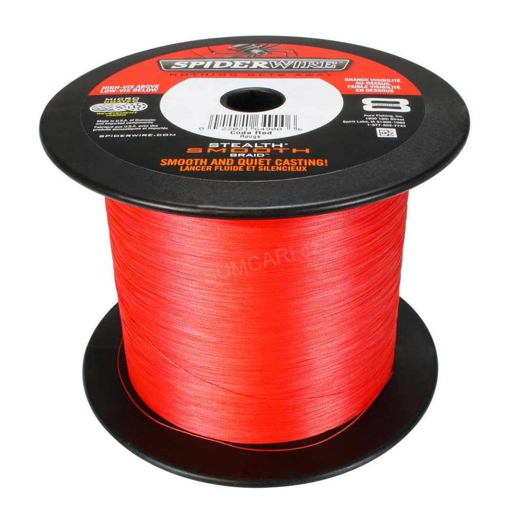 Spiderwire STLTH SMOOTH8 0.17mm 15,80kg, červená