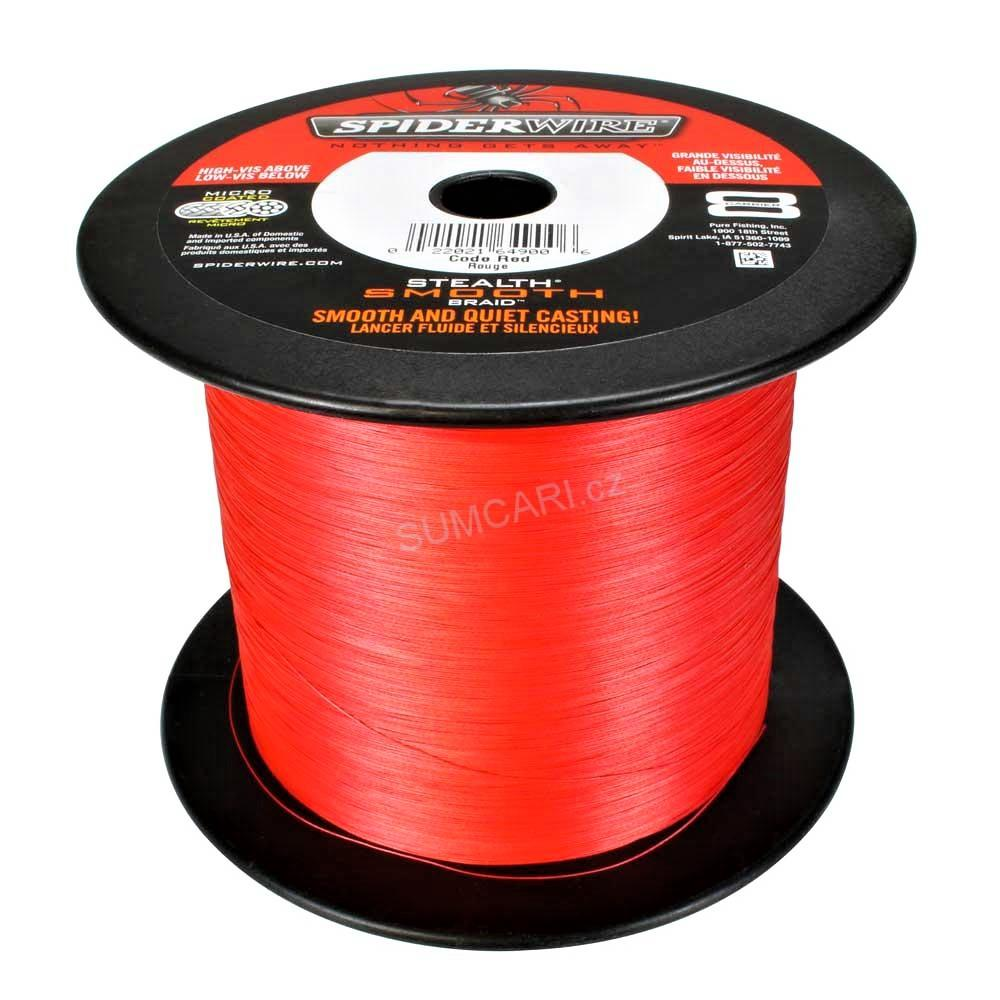 Spiderwire STLTH SMOOTH8 0.30mm 34,30kg, červená