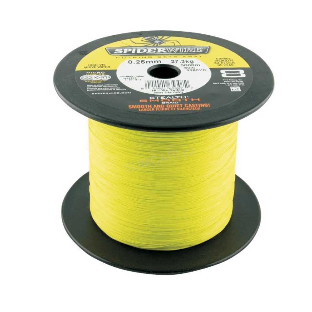 Spiderwire STLTH SMOOTH8 0.08mm 7.30kg, žlutá