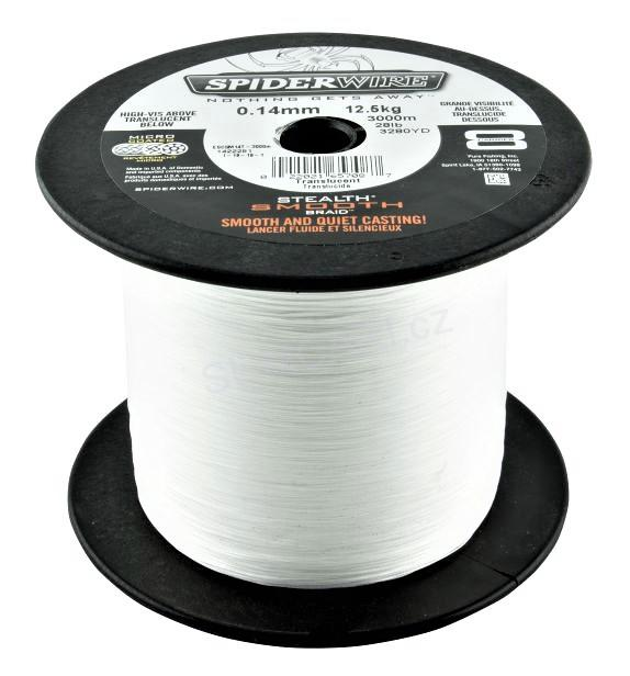Spiderwire STLTH SMOOTH8 0.12mm 10.70kg, čirá