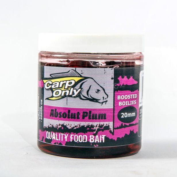 Carp Only dipované boilies ABSOLUT PLUM 20mm 250ml