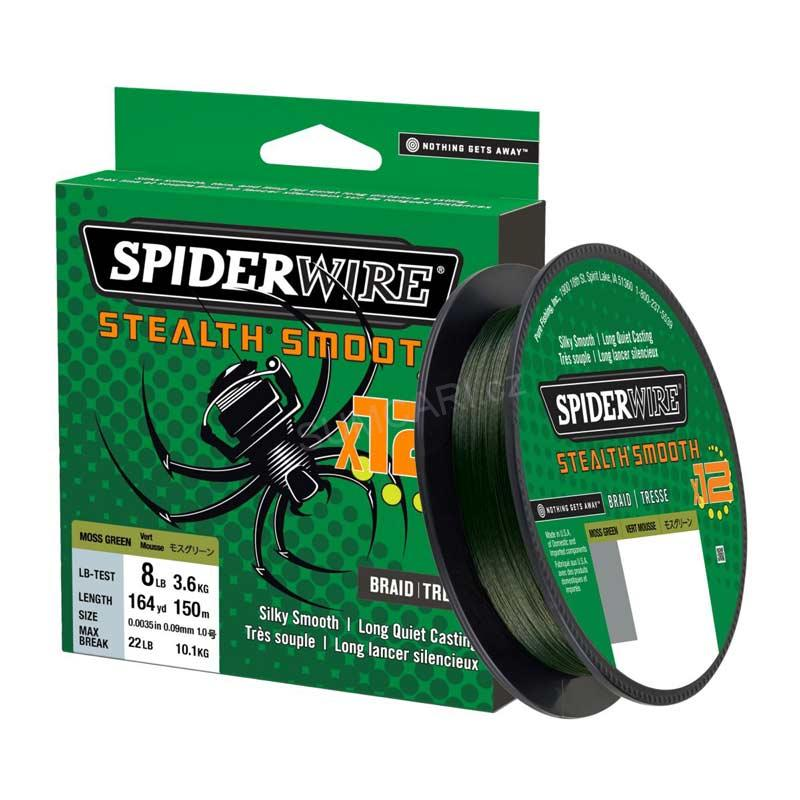 Spiderwire STEALTH Smooth 12 HI-VIS 0.13mm 12.70kg, 150m, zelená