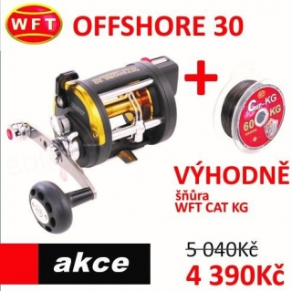 WFT OFFSHORE Linecounter 30RH + šňůra WFT CAT KG