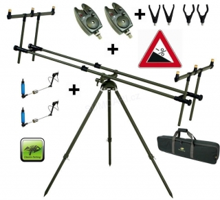 Giants Fishing Tri Pod Specialist 3 Rods+2x hlásič+2x swinger zdarma!