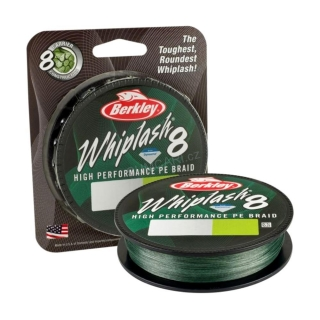 Berkley šňůra WHIPLASH 8 0.25mm 39.0kg 150m, green