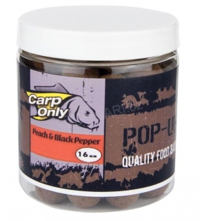 Carp Only plovoucí boilies PEACH BLACK PEPPER POP UP 12mm 100g