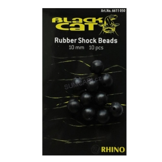 Black Cat gumová kulička Rubber Shock Beads 10mm, 10ks