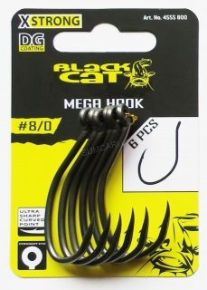 Black CAT sumcový háček MEGA Hook DG COATING 8/0 6ks