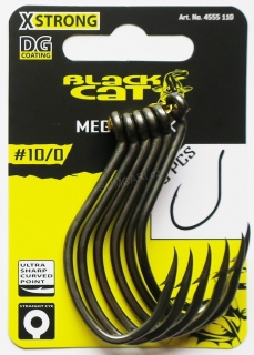 Black CAT sumcový háček MEGA Hook DG COATING 10/0 6ks