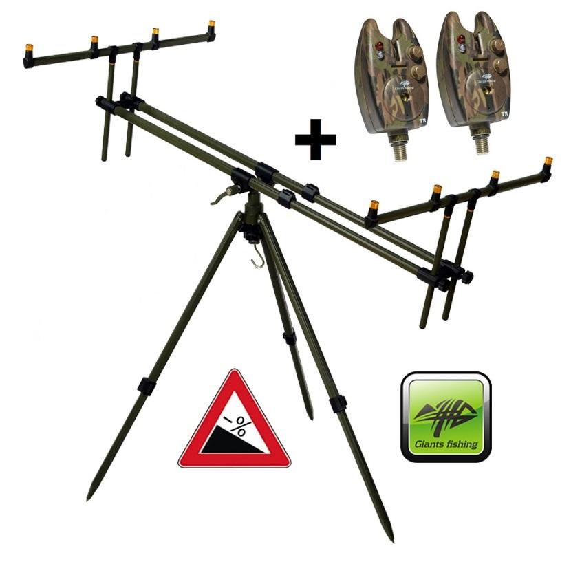 Giants Fishing stojan Tripod Army 4 Rods + 2x hlásič zdarma