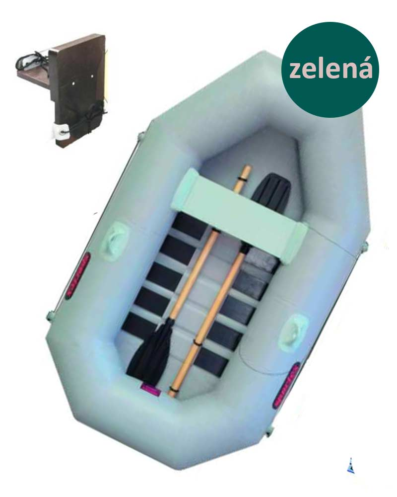 Sportex člun DELTA 210 s podlahou, držákem motoru, zelený