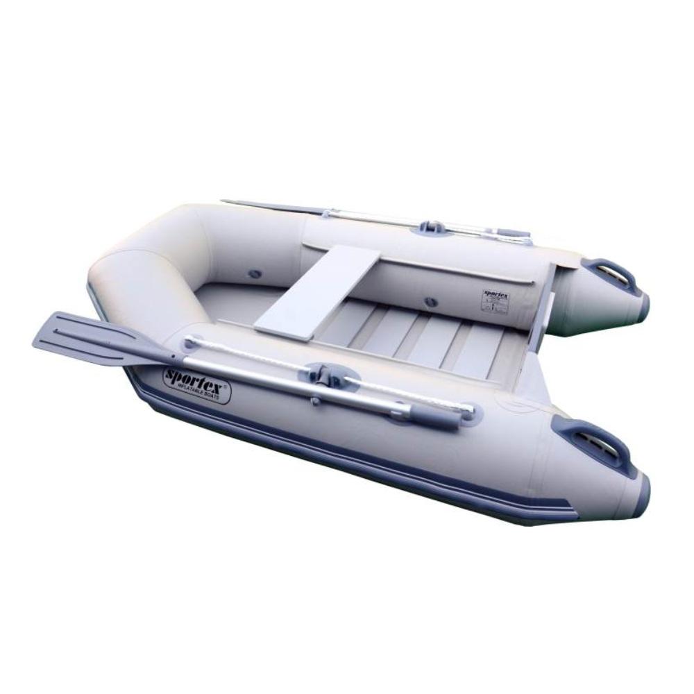 SPORTEX nafukovací člun SHELF 200 šedý, lamelová podlaha