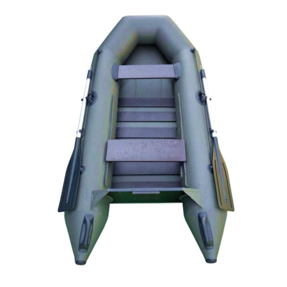 SPORTEX nafukovací člun SHELF 230 zelený, lamelová podlaha
