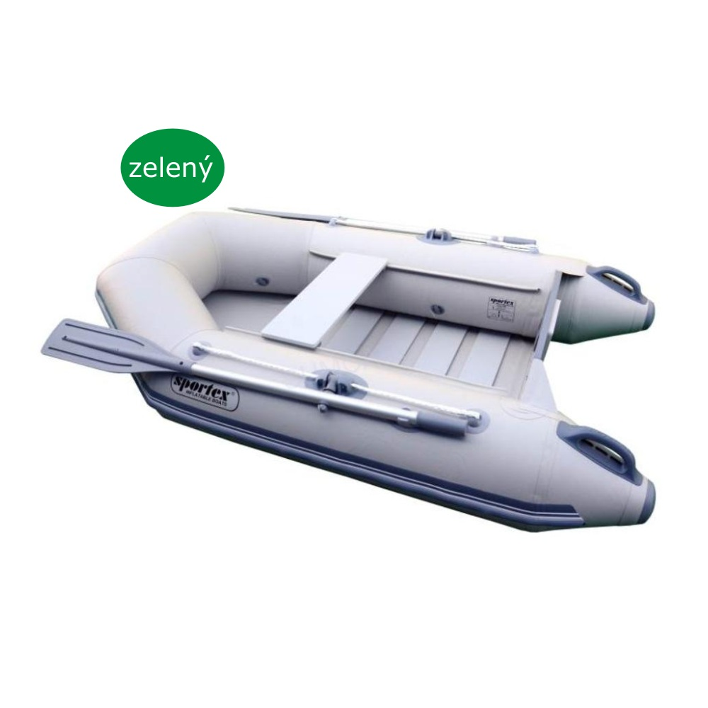 SPORTEX nafukovací člun SHELF 200 zelený, lamelová podlaha
