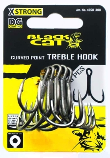 Black Cat trojháček X Strong DG Coating Curved Point 4/0, 5 kusů