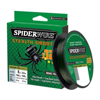 Spiderwire STEALTH Smooth 12 HI-VIS 0.19mm 18.00kg, 150m, zelená
